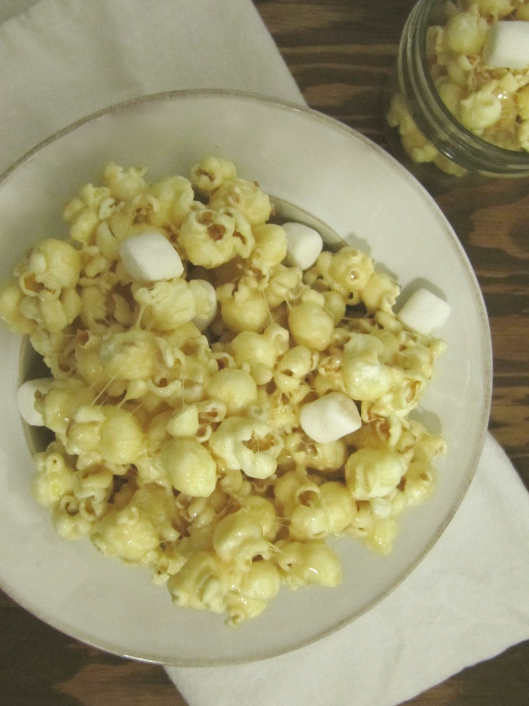 brown sugar marshmallow popcorn